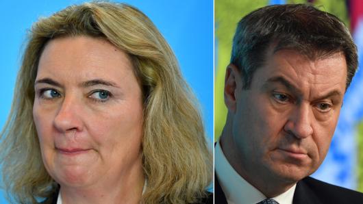 Ministerin Kerstin Schreyer und Markus Söder.