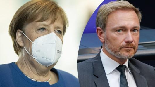 Bundeskanzlerin Angela Merkel und FDP-Chef Christian Lindner: Plötzlich ganz neue Forderungen an die Kanzlerin.