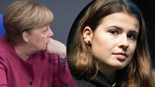Luisa Neubauer in der Kritik nach einer Bemerkung über Angela Merkel.