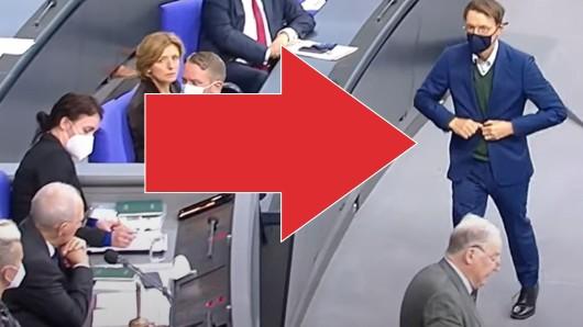 Stürmte nach der Attacke von Gauland zielstrebig nach vorne: SPD-Abgeordneter Karl Lauterbach.
