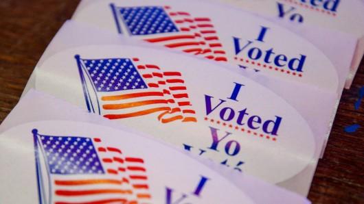 Ich habe gewählt: Bei der US-Wahl 2020 gibt es solche und ähnliche Sticker für alle, die ihre Stimme abgegeben haben.