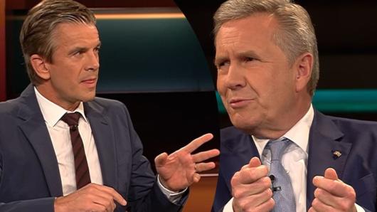 Ex-Bundespräsident Christian Wulff zu Gast bei Markus Lanz (ZDF).