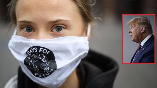 Greta Thunberg gegen Donald Trump.
