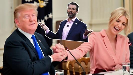 Donald Trump und sein Lieblingskind Ivanka. Hat Donald Trump Junior eine Chance für eine Kandidatur 2024?