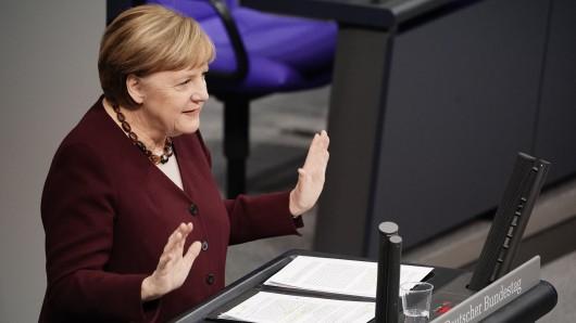 Angela Merkel bei ihrer Corona-Regierungserklärung am Donnerstag.