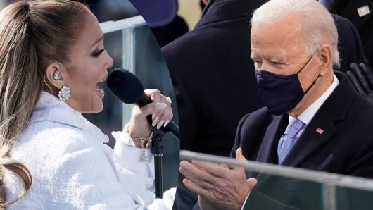 Jennifer Lopez bei ihrem Auftritt zur Amtseinführung von Joe Biden.