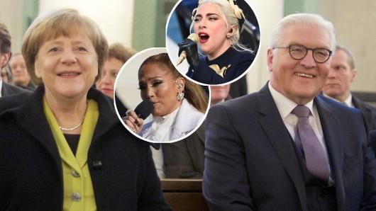 Angela Merkel und Frank-Walter Steinmeier: Auch das politische Berlin hat Musikstars zu bieten, allerdings nicht Jennifer Lopez und Lady Gaga.