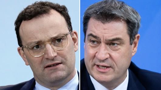 Giftpfeile aus München in Richtung Berlin: Markus Söder (rechts) kritisiert Jens Spahn deutlich, ohne seinen Namen zu nennen.