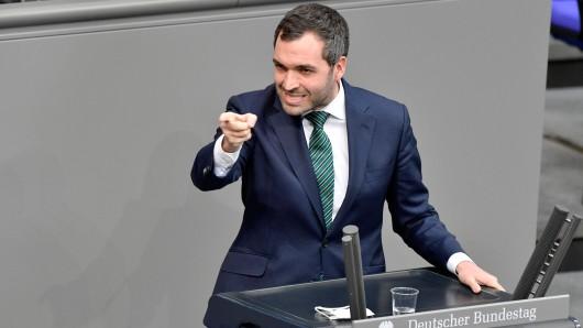 Konstantin Kuhle am Mittwoch im Deutschen Bundestag.