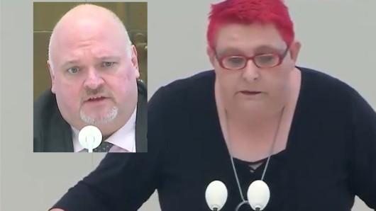 AfD-Landtagsvizepräsident Andreas Galau und die Linken-Abgeordnete Andrea Johlige.