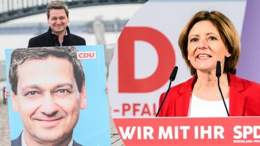 Wer regiert künftig in Rheinland-Pfalz: Malu Dreyer oder Christian Baldauf?