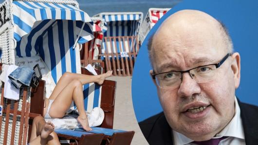 Wirtschaftsminister Peter Altmaier warnt vor verfrühten Urlaubsbuchungen.