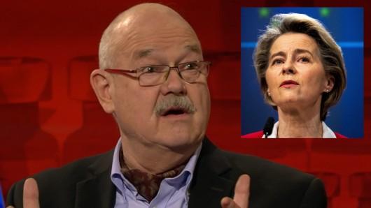 EU-Experte Rolf-Dieter Krause rechnete bei Hart aber fair (ARD) mit Kommissionspräsidentin Ursula von der Leyen ab.