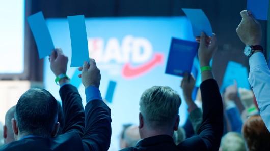 Delegierte auf einem AfD-Parteitag (Symbolbild).