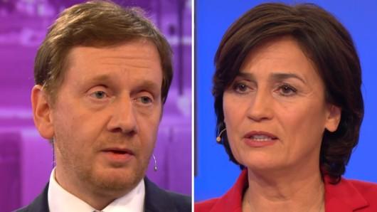 Sachsens Ministerpräsident Michael Kretschmer bei Sandra Maischberger (ARD).
