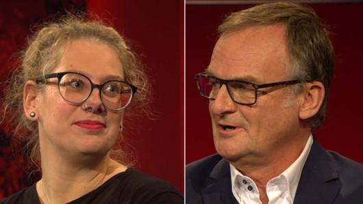 Andrea Zschocher und Frank Plasberg. Die Journalistin und Autorin wurde vor der ARD-Talksendung beschimpft.