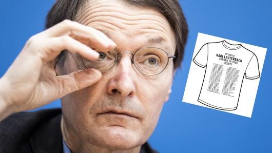 Ein Anti-Lauterbach-Shirt sorgte im Netz für Aufregung.