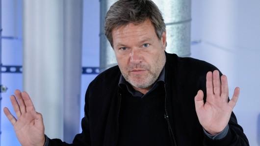 Kein souveräner Auftritt im Interview: Robert Habeck (Archivbild).
