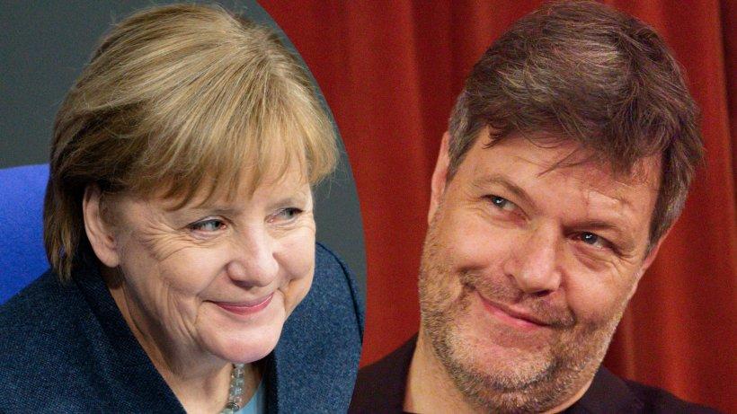 Angela Merkel: Grünen-Chef Habeck gerät ins Schwärmen, als er über die Kanzlerin spricht