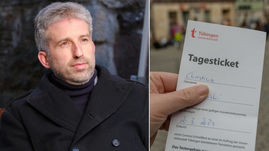 OB Boris Palmer ist stolz auf die Corona-Tagestickets, die es in seiner Stadt Tübingen nun gibt.