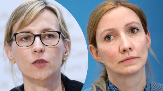 Die Virologinnen Sandra Ciesek und Isabella Eckerle.