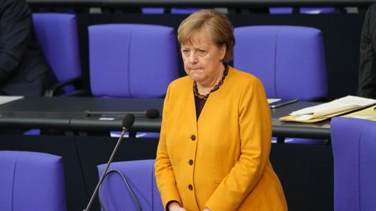 Angela Merkel bei der Regierungsbefragung im Bundestag.