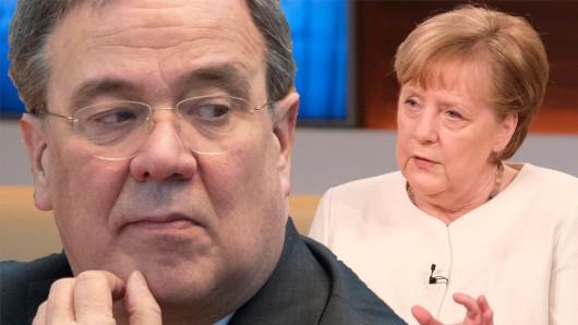 Armin Laschet wurde offen von Bundeskanzlerin Angela Merkel bei Anne Will kritisiert.