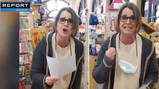 Eine Einzelhändlerin aus Mainz lässt ihre Corona-Wut raus.