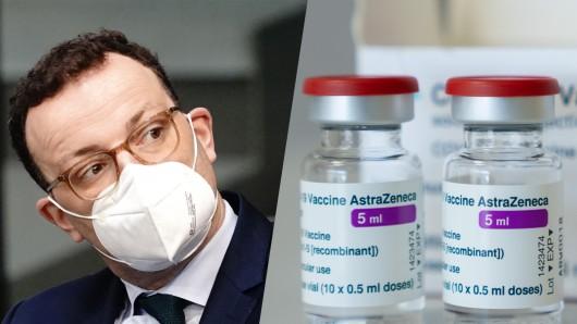 Jens Spahn musste am Dienstag den AstraZeneca-Impfstoff für Jüngere verkünden.