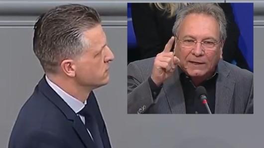Standpauke im Bundestag: Klaus Ernst (Die Linke) sagte CDU-Mann Thorsten Frei die Meinung.