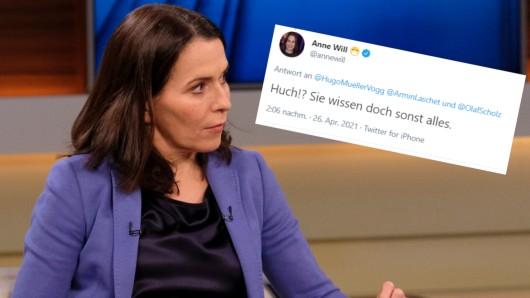 Anne Will kontert bissig nach Kritik an ihrer Talkshow von Sonntagabend mit Annalena Baerbock.