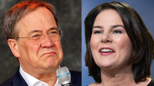 Annalena Baerbock hängt Armin Laschet und Olaf Scholz in Umfragen ab.