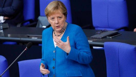 Kanzlerin Angela Merkel bei ihrer letzten Fragestunde im Bundestag.