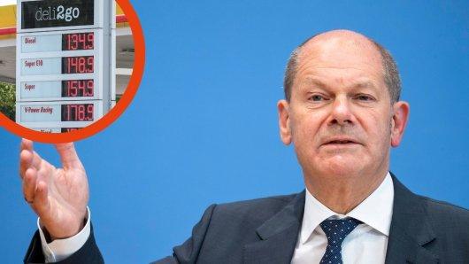 Mit seiner Antwort auf die Spritpreis-Frage geriet Olaf Scholz in einem Interview aufs Glatteis.