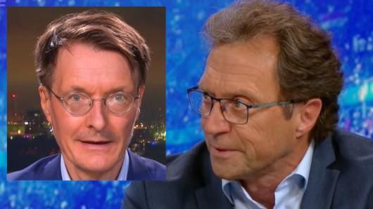 Experten-Duell bei Maybrit Illner: Gerhard Scheuch (im Studio) und Karl Lauterbach (zugeschaltet).