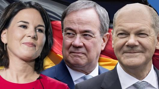 Wer macht das Kanzler-Rennen? Annalena Baerbock (Grüne), Armin Laschet (CDU/CSU) oder Olaf Scholz (SPD)?