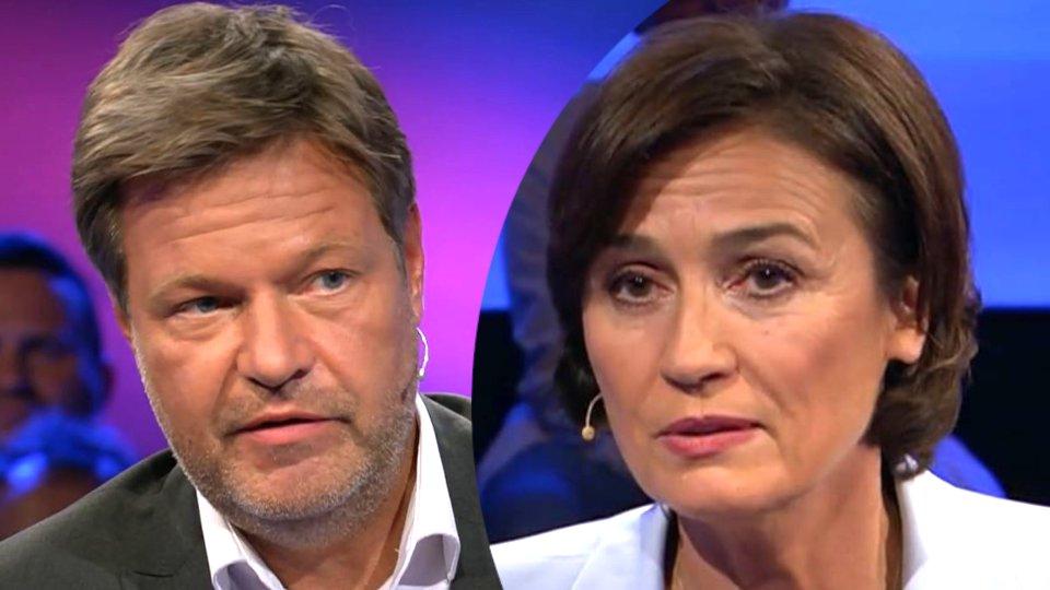 Robert Habeck im Gespräch mit Sandra Maischberger.