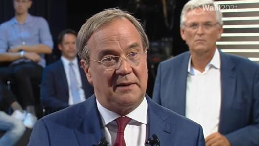 "Armin Laschet in der ZDF-Sendung ""Klartext, Herr Laschet""."