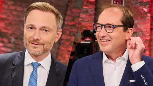 """Waren beim ARD-""""Vierkampf"""" dabei: FDP-Spitzenkandidat Christian Lindner und CSU-Landesgruppenchef Alexander Dobrindt."""