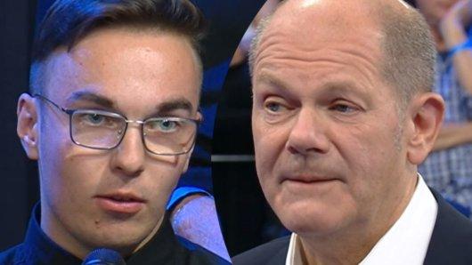 Kanzlerkandidat Olaf Scholz wurde in der ZDF-Sendung Klartext plötzlich geduzt.