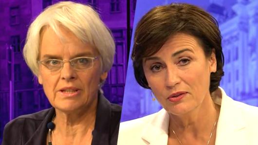 Ihr Auftritt in der Maischberger-Talkshow schlägt hohe Wellen im Wahlkampf: Journalistin Ulrike Herrmann (links).