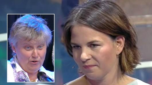 Geriet bei der Milchpreis-Frage ins Schwimmen: Annalena Baerbock in der Sendung ZDF-Klartext vor der Bundestagswahl.