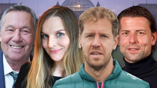 Viele Stars verraten, wen sie bei der Bundestagswahl wählen wollen, darunter Roland Kaiser, Judith Holofernes, Sebastian Vettel und Roman Weidenfeller.