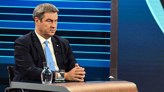 Markus Söder in der Schlussrunde von ARD und ZDF vor der Bundestagswahl.