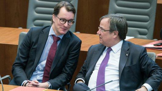 Hendrik Wüst neben Armin Laschet. Wird er sein Nachfolger als NRW-Ministerpräsident.