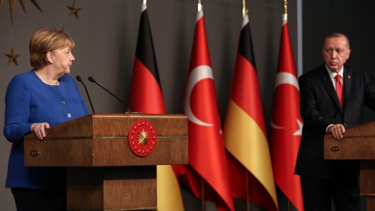 Angela Merkel trifft Recep Tayyip Erdogan in Istanbul. (Archivbild)