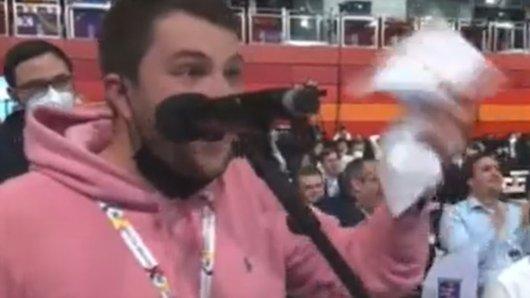 Ein JU-Mitglied aus NRW rastete beim Parteitag der CDU-Jugend aus.