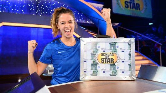 """""""Schlag den Star"""": Vanessa Mai triumphiert nach einer Nervenschlacht."""
