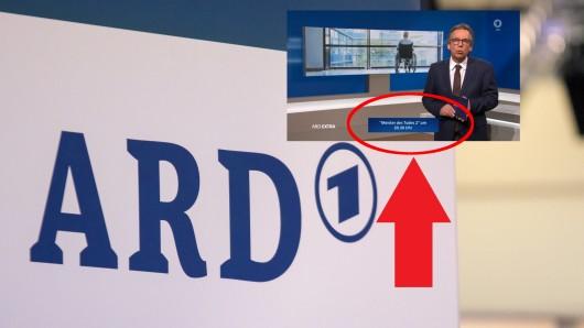Bei einem ARD-Extra zum Thema Coronavirus wurde ein unpassender Programmhinweis eingeblendet.