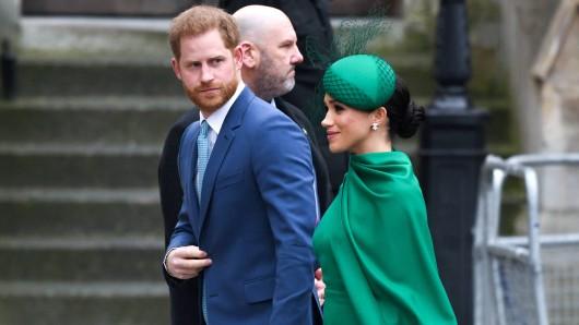 Ein Bild aus vergangenen Royals-Tagen: Harry und Meghan im März in London.